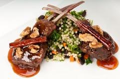 Lamb chops plate Royalty Free Stock Image