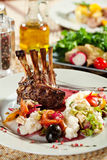 Lamb Chops with Risotto Royalty Free Stock Images