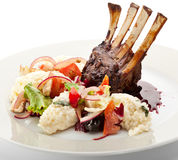 Lamb Chops with Risotto Stock Image