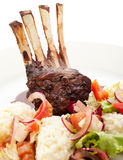 Lamb Chops with Risotto Stock Photos
