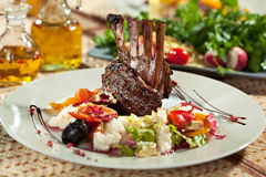 Lamb Chops with Risotto Royalty Free Stock Photos