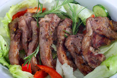 Lamb chops serving bowl Stock Image