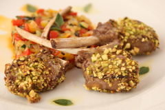 Lamb Chops with spicy rice Stock Photo