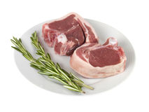 Lamb Chops with Thyme Stock Photos