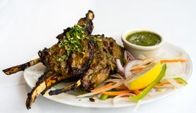 Lamb chops tikka at Salam Bombay, Vancouver stock photo
