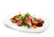 Lamb Chops and Vegetables Stock Images