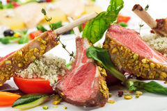Lamb Chops and Vegetables Stock Image
