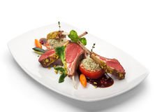 Lamb Chops and Vegetables Stock Photos