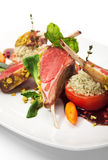 Lamb Chops and Vegetables Royalty Free Stock Image