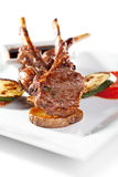 Lamb Chops and Vegetables Royalty Free Stock Photography
