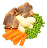 Lamb Chops And Vegetables Meal Stock Photo