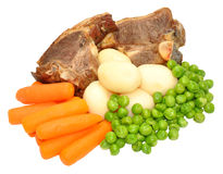 Lamb Chops And Vegetables Meal Royalty Free Stock Photos
