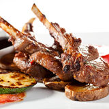 Lamb Chops and Vegetables Royalty Free Stock Photo