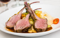 Lamb Chops on Vegetables Stock Photos