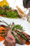 Lamb Chops and Wine Royalty Free Stock Image