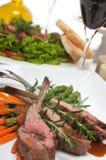 Lamb Chops and Wine Royalty Free Stock Image
