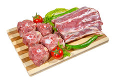 Lamb chunk. On a cutting board Stock Photo