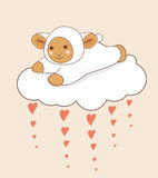 Lamb Cloud Heart Stock Photography