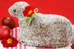 Lamb coconut cake. Special cocoa eastern coconut cake lamb shape Royalty Free Stock Images