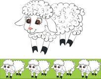 Lamb color 01. Vector.Lamb set in color 01 stock illustration