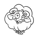Lamb coloring pages Stock Image