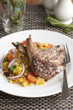Lamb with couscous Royalty Free Stock Photography