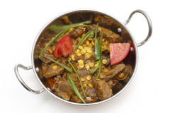 Lamb curry in kadai bowl Royalty Free Stock Images
