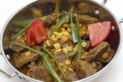 Lamb curry in kadai closeup Royalty Free Stock Images