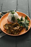Lamb curry with rice Royalty Free Stock Photos