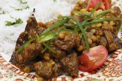 Lamb curry with split peas closeup Stock Photos