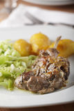 Lamb cutlet with potato Stock Photos
