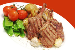 Lamb Cutlets Royalty Free Stock Images