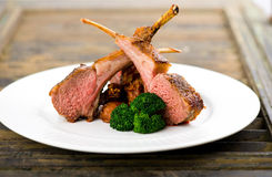 Lamb cutlets stock image