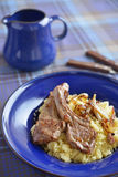 Lamb cutlets with couscous Royalty Free Stock Image
