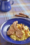 Lamb cutlets with couscous Royalty Free Stock Photo
