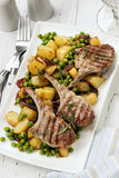 Lamb Cutlets Dinner Stock Images