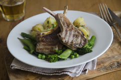 Lamb cutlets Royalty Free Stock Photos