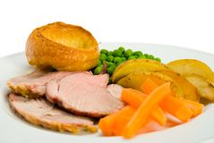 Lamb Dinner Royalty Free Stock Photo