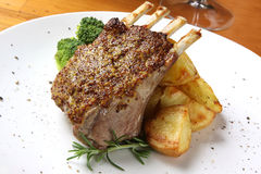 Lamb Dinner Royalty Free Stock Photography