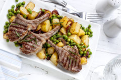 Lamb Dinner Royalty Free Stock Image