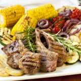 Lamb Dinner Stock Images