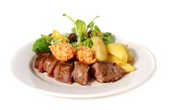 Lamb dinner on a plate Royalty Free Stock Photography