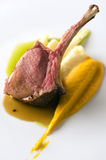 Lamb dish. Haute cuisine plate with lamb Stock Photography