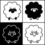 Lamb. Drawn funny lamb is the symbol of new year 2015 vector illustration