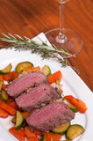 Lamb filet with herbs Stock Images