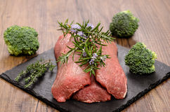 Lamb fillet with rosemary and thyme Stock Photography