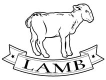 Lamb food label Royalty Free Stock Photo