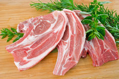 Lamb Forequarter Chops Royalty Free Stock Photo