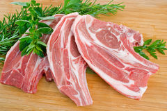 Lamb Forequarter Chops Stock Image