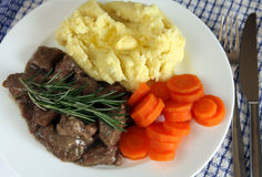 Lamb fricassee 4673 Stock Photo